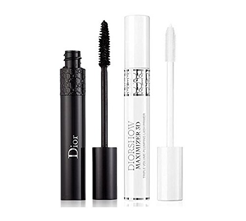 Christian Dior Black Out Mascara and Lash Primer Set, Dior Black Out Mascara, # 099 Kohl Black, 0.33 Ounce + Diorshow Maximizer 3D Lash Primer 0.33 Ounce (099) ()