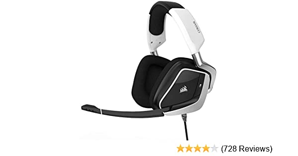 CORSAIR Void PRO RGB USB Gaming Headset - Dolby 7 1 Surround Sound  Headphones for PC - Discord Certified - 50mm Drivers - White