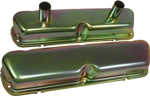 1962-85 Ford Small Block 260-289-302-351W Circle Track Racing Valve Covers - Zinc