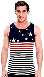 True Rock's Men's Stars and Stripes American Flag Tank Top Stars and Stripes X-Large