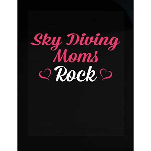 Inked Creatively Sky Diving Moms Rock Sticker