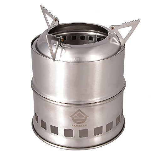 C&ing Stove/ Backpacking Stove Portable Stainless Steel Wood Burning Stove with Nylon Carry Bag for Outdoor HikingTraveling and Picnic (c&ing stoves)  sc 1 st  Amazon.com & Lightweight Tent Stove: Amazon.com