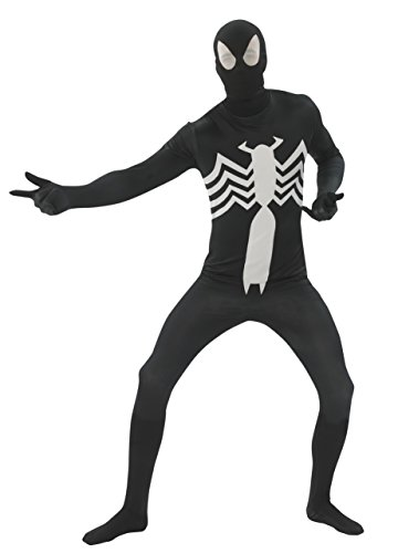 Rubie's Costume Men's Marvel Universe Black Spider-man Adult 2nd Skin Costume, Multi, Medium (Mens Black Spiderman Costume)