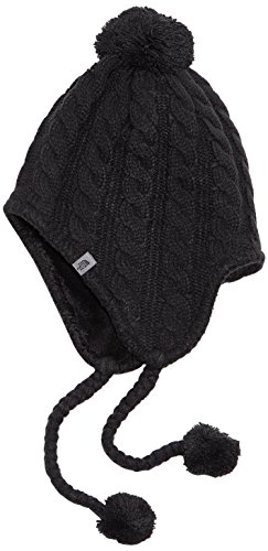 The North Face Women's Fuzzy Earflap Beanie, TNF Black/TNF Black, One Size (Womens Earflap)