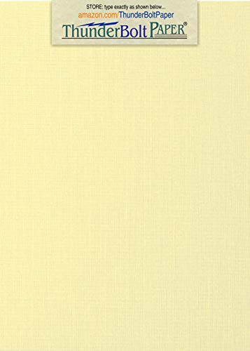 100 Ivory Linen 80# Cover Paper Sheets - 4.5