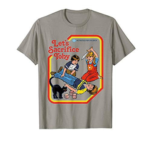 Funny-Let's-Sacrifice-Toby-Black-Cat T-shirt Cat Demon ()
