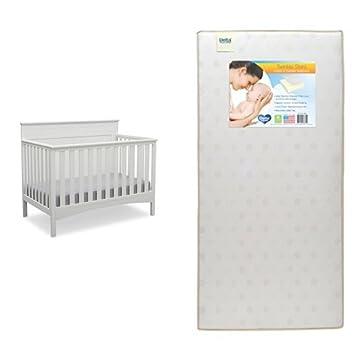 Delta Children Fancy 4-in-1 Convertible Baby Crib, Bianca White 540310-130