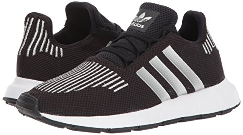 eb044be4a5b26 Adidas Swift Run shoes. Stretchy knit upper. 3-stripes at the sides.  Recessed lace closure. Padded tongue and collar. Cushioned footbed. Molded  EVA midsole.