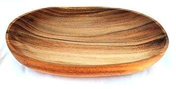 ovale Schale Holz ca 30x18cm H/öhe 5cm Sch/üssel Akazienholz Schale Fair Trade