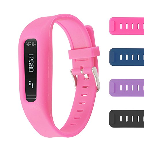 One Clasp (Buckle Bracelet for Fitbit One - Adjustable Wristband and Wristwatch Style - Fitbit One Silicone Replacement Secure Band with Chrome Watch Clasp and Fastener Buckle - Fix the Tracker Fall Off Problem)