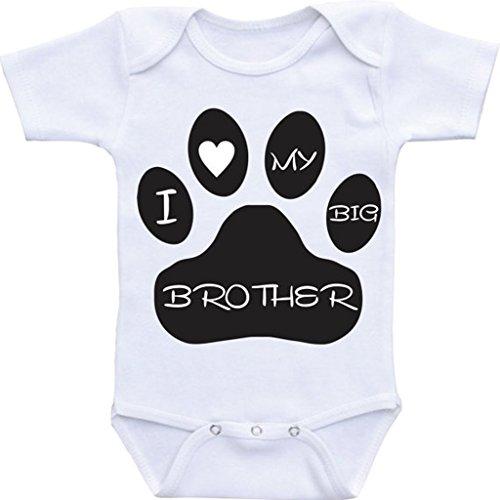 Mi hermano es un perro, I Love My Big Brother perro camisa, playera hermanito de perro amante de los Perros bebé shirt-funny...