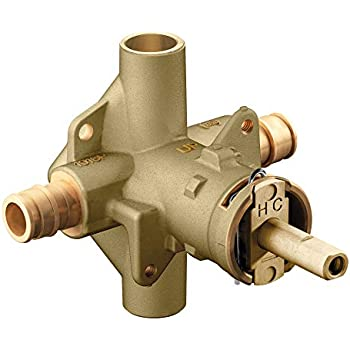 or or Unfinished 0.5 MOEN 2590 M-Pact Rough-In PosiTemp Pressure Balancing Cycling Shower Valve with Stops Renewed 1//2-Inch IPS