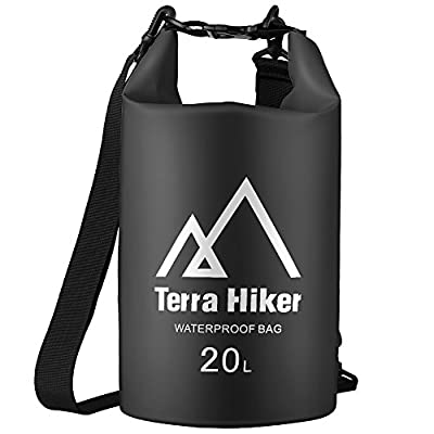 Terra Hiker Waterproof Dry Bag, Roll Top Floating Duffle Dry Gear with Adjustable Shoulder Straps, Keeps Gear Dry for Kayaking, Beach, Rafting, Boating and Fishing