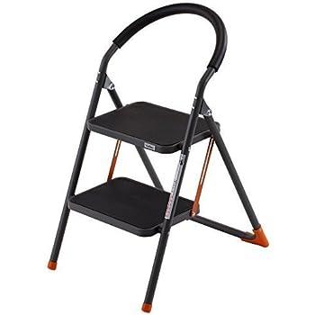 wonder worker barrow 2 step ladder heavy duty steel