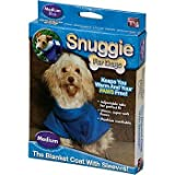 Snuggie for Dogs Blue Colored Fleece Blanket Coat with Sleeves (Medium)