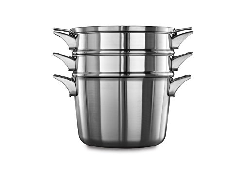 Calphalon Premier Space Saving Stainless Steel 8 Quart Covered Multi Pot Calphalon 8 Quart Multi Pot