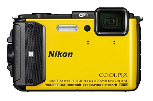 Nikon COOLPIX AW130 Waterproof Digital Camera with Built-In Wi-Fi (Yellow)