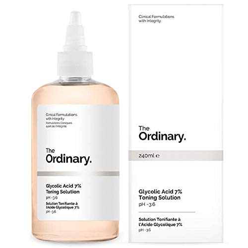 The Ordinary Glycolic Acid 7% Toning Solution 240ml.Cellular toner, smooth skin, white skin