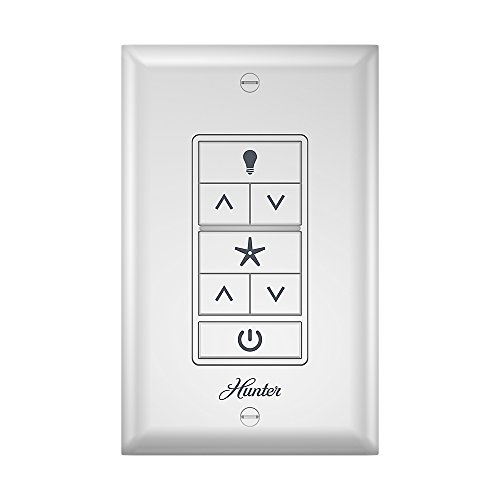 Hunter 99375 Universal Ceiling Fan Wall Control Universal Ceiling Fan Wall Controlwhite ()
