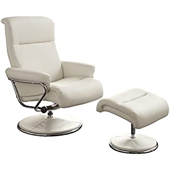 Homelegance 8550WHT-1 Swivel Reclining Chair with Ottoman White Bonded Leather Match  sc 1 st  Amazon.com & Amazon.com: Homelegance 8555WHT-1 Swivel Reclining Chair with ... islam-shia.org