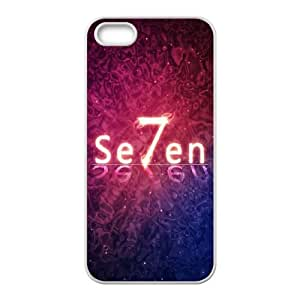 iPhone 4 4s Cell Phone Case White Flare Seven Art Pink Background BNY_6785481