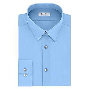 Fashion Shopping Calvin Klein Men's Dress Shirt Slim Fit Non-Iron Herringbone