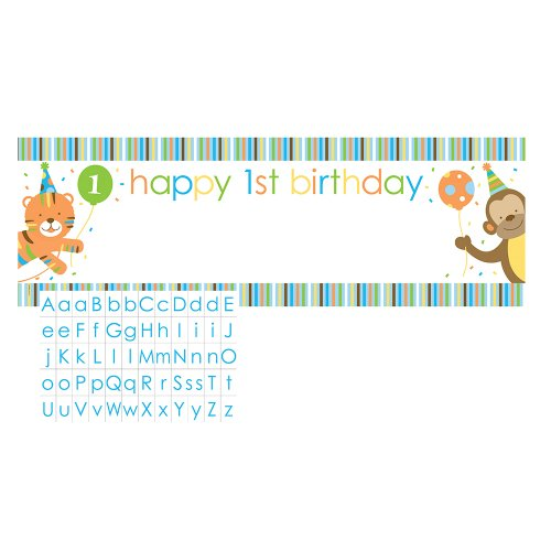 Giant Party Banner with Customizable Stickers, Sweet at One Boys
