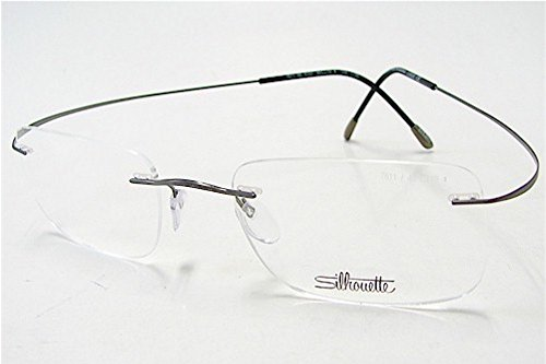 SILHOUETTE Eyeglasses TMA Must Collection 7799 6107 Gunmet. Optical Frame 19x150 (Optical Glass Collection)
