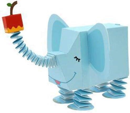 ELVVT 象動物の3Dペーパーモデル玩具親子DIYマニュアル幼稚園の子供の折り紙クラフトジグソーパズルギフト