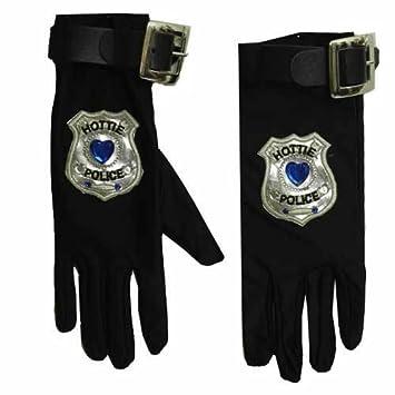 3bd5c35b932d37 PARTY DISCOUNT KES51173 Handschuhe Hottie Police - Polizei, 1 Paar ...