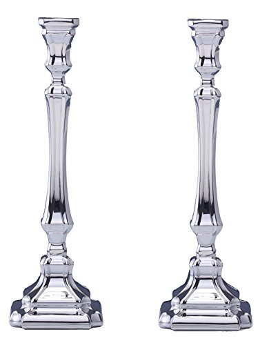 Hazorfim Comino Smooth Silver Candlesticks - Small Shabbat candlestick sterling silver judaica Israel Jerusalem Holy land gift Sabbath candles light .925 925 wedding gift present hatzorfim by Hazorfim