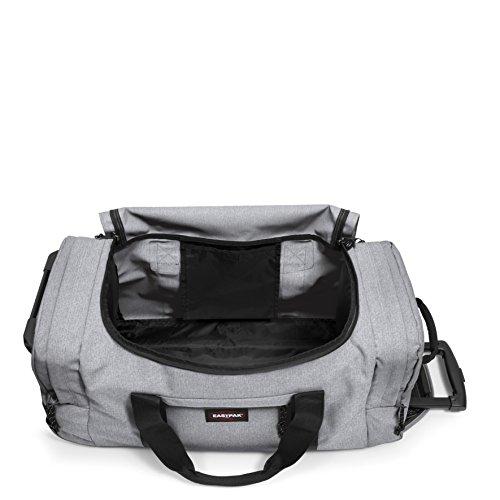 Eastpak Leatherface M Reisetasche, 69 cm, 61 L, Grau (Black Denim) Sunday Grey