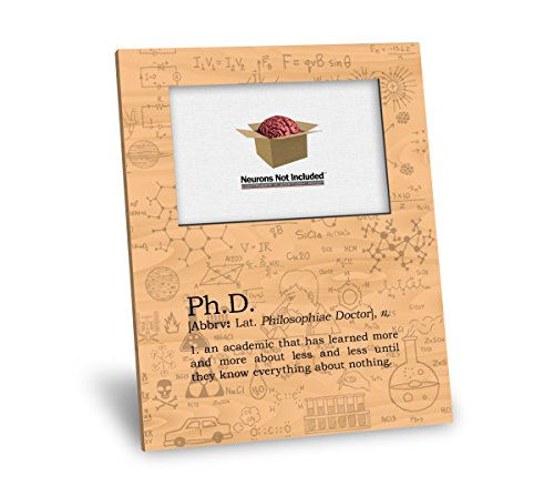 - Ph.D. Definition Picture Frame - Personalization Available - 8x10 Frame - 4x6 Picture - Maple Finish