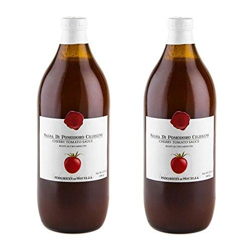 (Frantoi Cutrera - Salsa Di Pomodoro Ciliegino - Cherry Tomato Sauce Flavored with Basil - 23.3oz (660g))
