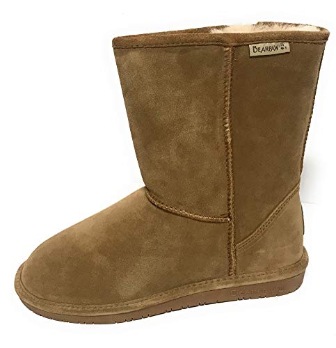 (Bearpaw Women's Emma Short Hickory Ankle-High Suede Boot - 9M)