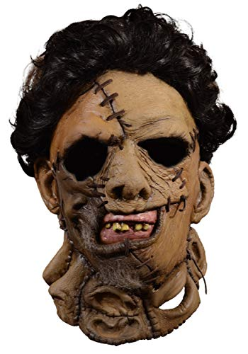 Trick Or Treat Studios Texas Chainsaw Massacre 2 Deluxe Leather Face Mask -