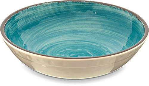 Carlisle 5401915 Mingle Melamine Cereal Bowl, 35.5 oz, Aqua - Aqua Cereal Bowl