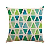 Tianya Pillowcase 18x18'Linen Mix Geometry owl Fashion Beautiful Home Portable and Easy to Clean Office Desk (A)