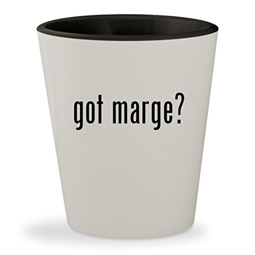 got marge? - White Outer & Black Inner Ceramic 1.5oz Shot - Bailey Glasses Nelson