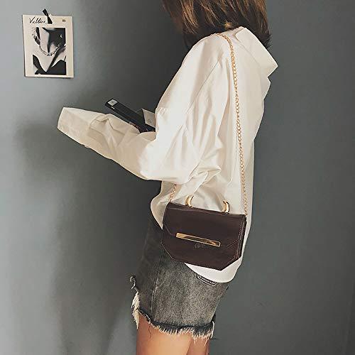 Mounter de 33E estilo Bags Piel Sintética Marrón GB Mujer preppy rXqX6w