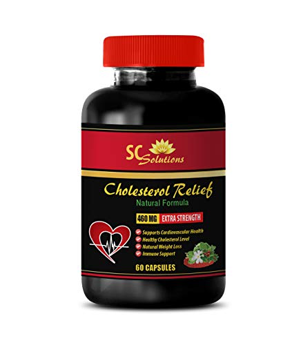 Blood Pressure Herbs - Cholesterol Relief - All Natural Formula - Cholesterol and triglycerides/colesterol - 1 Bottle (60 Capsules)
