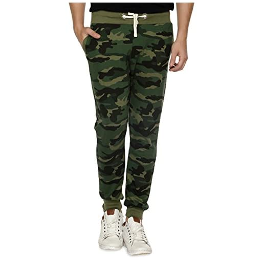 Wear Your Opinion Men's Fleece Camouflage Track Pant (WYO002