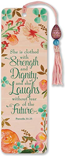 She is Clothed with Strength and Dignity Beaded Bookmark (Bookmarks Women)