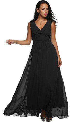 Angvns Womens Elegant Sleeveless Evening