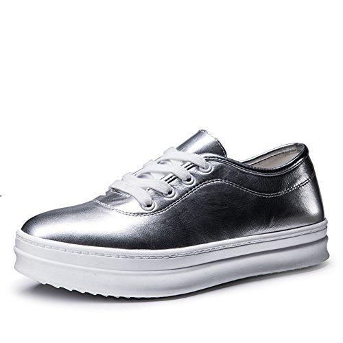 B color En Primavera Moda Plataforma Zapato La mocasín Zapatos Casual Puro calzado De Con 6YWqOnZH