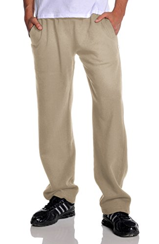 Pro Club Men's Open Bottom Comfort Fleece Sweatpant, Khaki, 2X-Large