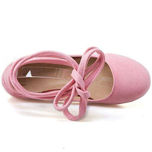 Mujer Comodo Ballets 1 Pumps Flat Flats pink Zanpa 4gx6a4