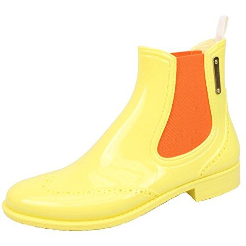 Moda Alla Stivali Gomma Donna Gelb Mezzo Chelsea Bockstiegel® Di Design Impermeabile Boots Esclusivo q4Zggf