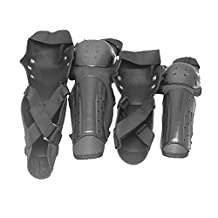 MonkeyJack 4 Pieces Motorcycle Motocross Racing Elbow Knee Shin Guard Pads Guard Protector Body Protection