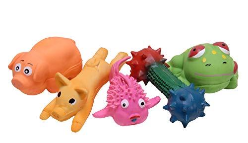 Choo Choo /One Pet Planet Jeffers Pip Squeaks Latex Toys, Each (Assorted)